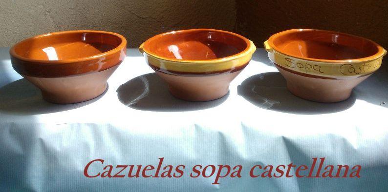 Cazuelas Sopa Castellana