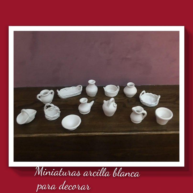 Miniaturas de Arcilla Blanca para decorar